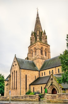 L'église cathédrale de saint-barnabé dans la ville de nottingham, angleterre