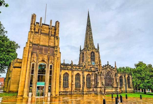 L'église cathédrale de st pierre et st paul à sheffield. yorkshire du sud, angleterre