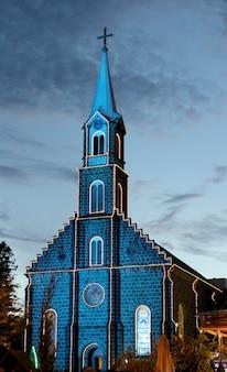 Église avec décoration de noël gramado brésil