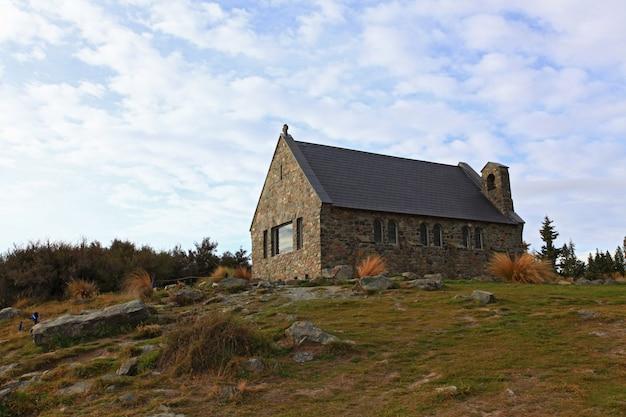 Église du bon berger, lac tekapo, nouvelle-zélande