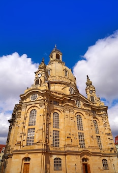 Église frauenkirche de dresde en saxe en allemagne
