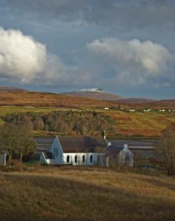 Église, à l'île de skye, en ecosse