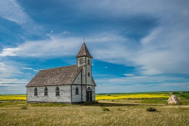 L'église luthérienne de la paix, historique, mais abandonnée, à stonehenge, sk