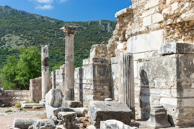 L'église de marie (l'église du conseil) dans l'ancienne ville d'éphèse à selcuk, turquie