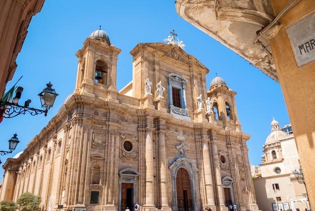 L'église mère, la cathédrale de marsala, trapani, sicile