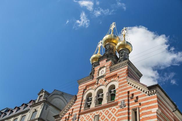 L'église orthodoxe alexander nevsky, copenhague, danemark.