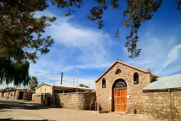Église saint-lucas dans la ville de toconao, san pedro de atacama, chili