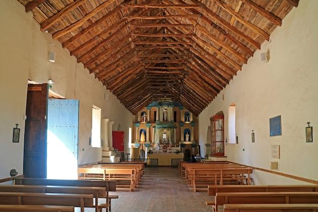 Église de san pedro de atacama une église historique dans la province d'el loa au nord du chili