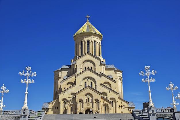 L'église vintage de la ville de tbilissi en géorgie