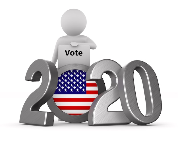 Élections américaines sur blanc
