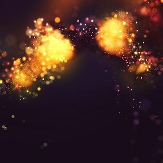 Élégant fond glitter sparkle avec des lumières incandescentes