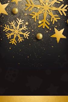 Élégant joyeux noël et bonne année fond