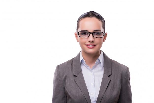 Élégante belle femme d'affaires au concept d'entreprise isolée sur