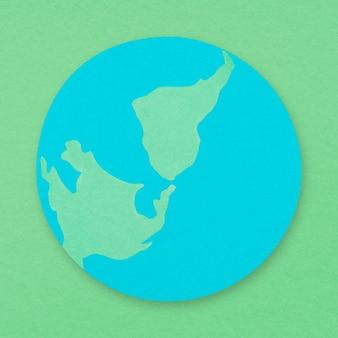 Élément d'artisanat en papier de l'environnement de la terre