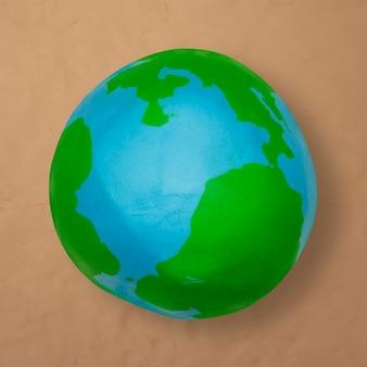 Élément de bricolage en argile de pâte à modeler d'argile d'environnement de la terre