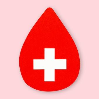 Élément de bricolage médical de santé croisée de papier de goutte de sang
