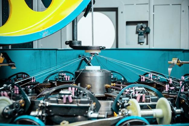 L'élément central du mécanisme d'une machine à tresser moderne.