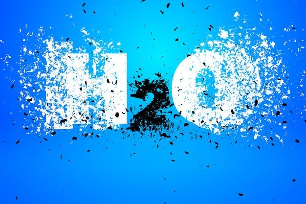 Élément De Conception D'art Abstrait H2o Illustration Photo Premium