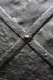 Elément de décoration patiné et rouillé des portes en métal vintage
