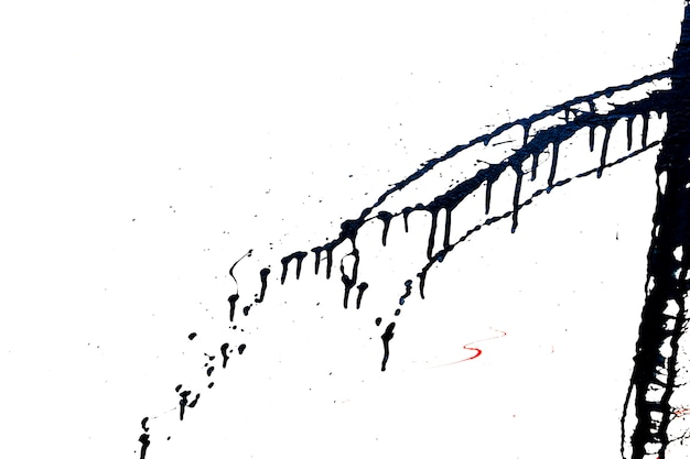Élément de graffiti noir. éclaboussures abstraites de peinture noire.