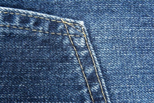 Élément de pantalon en jean bleu