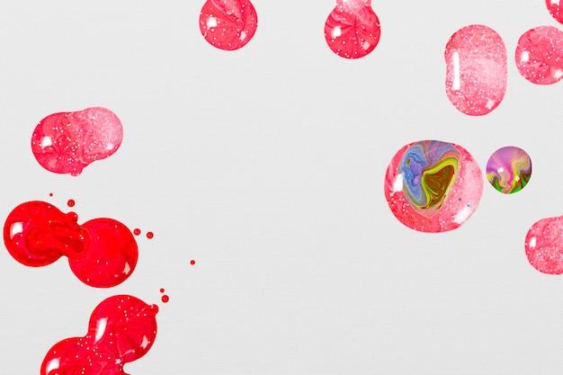 Élément de peinture acrylique féminin tourbillon de marbre rose