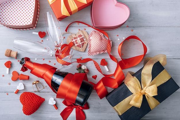 Éléments d'amour, concept pour la saint-valentin.