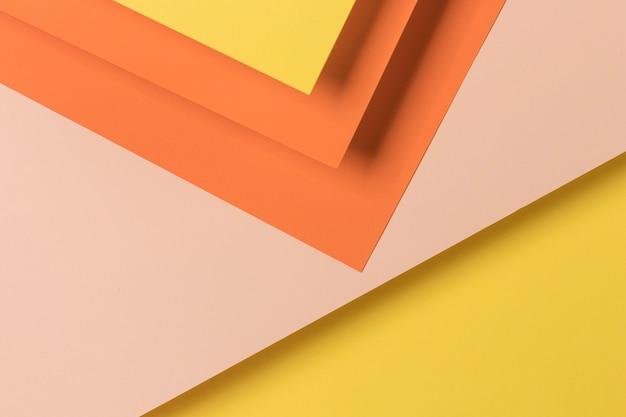 Éléments d'armoires colorées