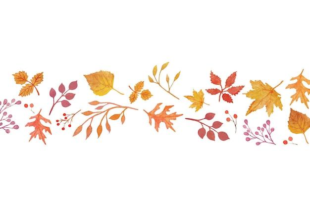 Éléments d'automne aquarelle