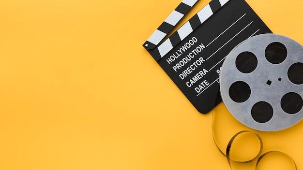 Éléments de cinématographie avec espace de copie