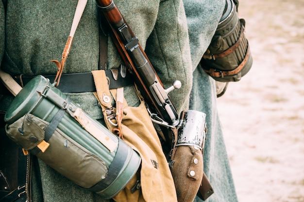 Éléments d'équipement d'un militaire allemand