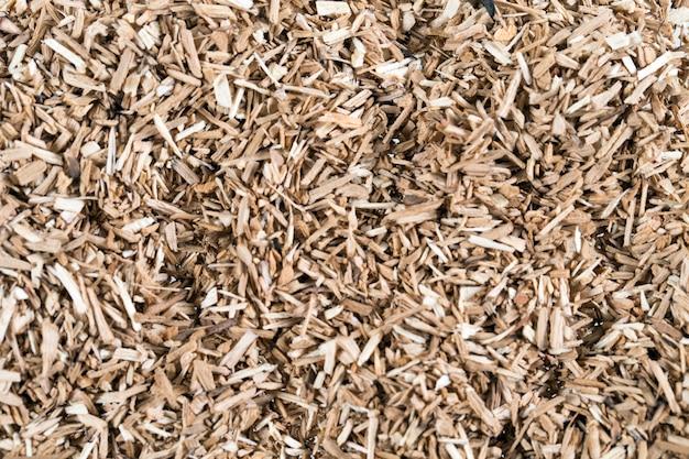 Éléments à fumer en copeaux de bois donnant de la saveur et du goût de nombreux éléments de motif beige naturel.