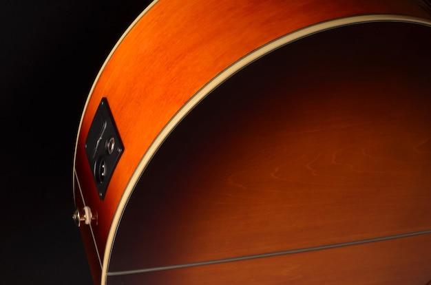 Éléments de guitare acoustique se bouchent
