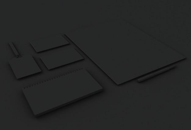Éléments de maquette 3d. modèle pour l'identité de marque.