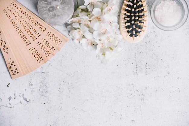 Éléments pour un massage relaxant dans un spa