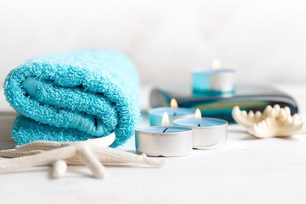 Eléments spa avec serviette