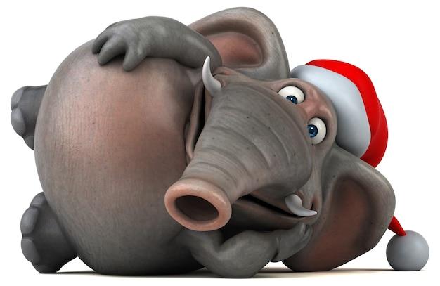 Éléphant amusant - illustration 3d