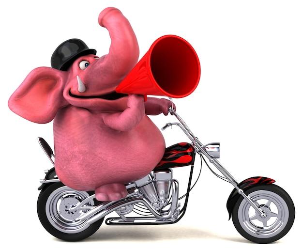 Éléphant amusant - personnage 3d