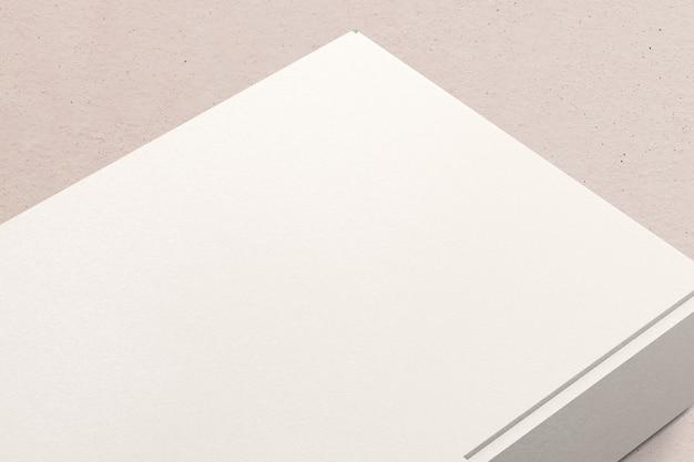 Emballage de boîte en papier blanc avec espace de conception