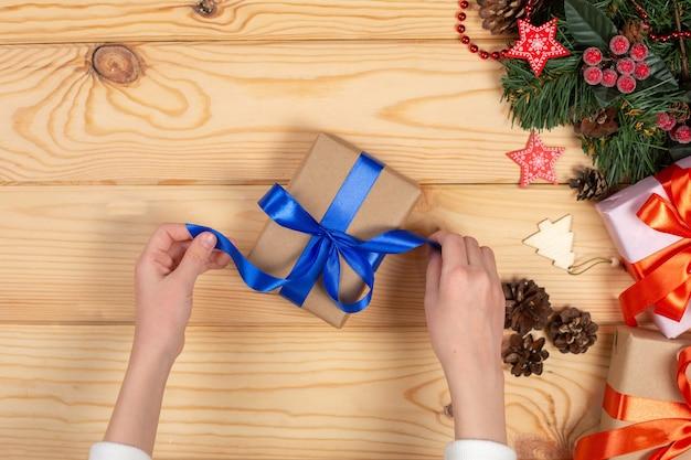 Emballage des cadeaux de noël