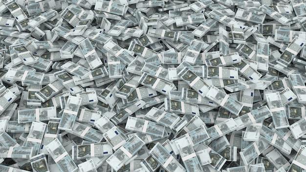 Emballage de cinq billets en euros pour tout le cadre