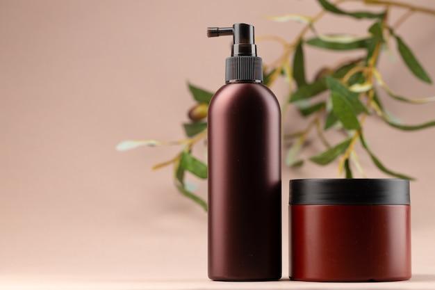 Emballage cosmétique uni marron