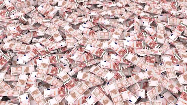 Emballage de dix billets en euros pour l'ensemble du cadre