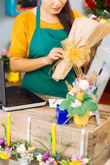 Emballage de fleurs