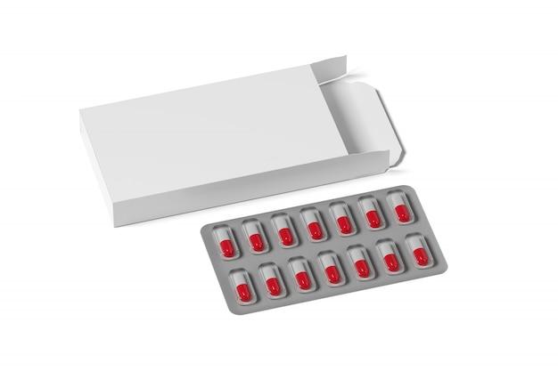 Emballage pharmaceutique, rendu 3d