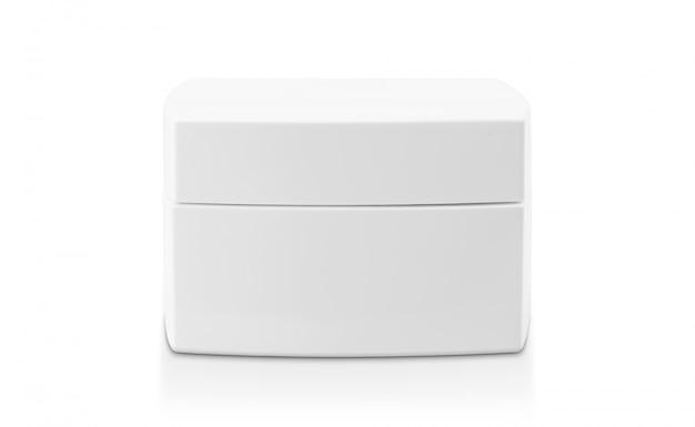 Emballage en pot de crème blanche pour produit cosmétique