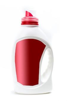 Emballages en plastique pour produits chimiques ménagers.
