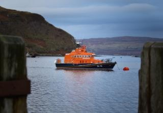 Embarcation de sauvetage portree, isle of skye