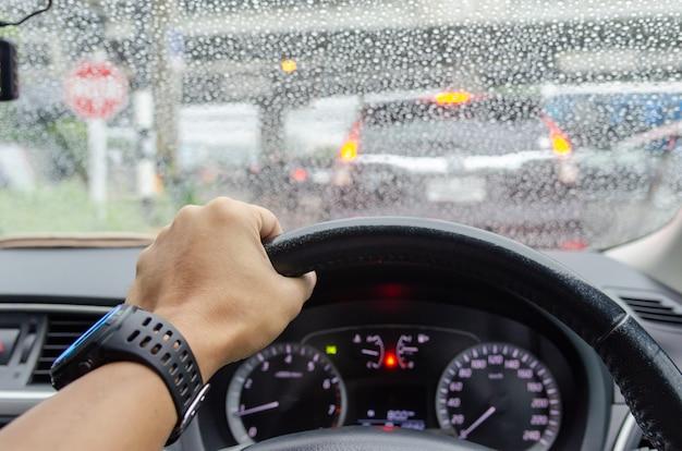 Embouteillage flou