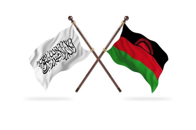 Émirat islamique d'afghanistan contre le malawi deux drapeaux contexte